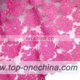 2016 high quality tulle lace fabric product on alibaba/tulle lace fabric for wedding party