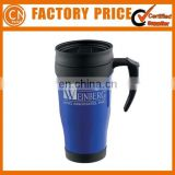 Cheapest Promotional Customized Printed Double Wall Plastic Auto Mug