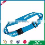Top quality blue travel luggage strap with custom logo