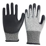 13G HPPE Liner PU Dipped Safety Gloves Cut Level 5 with EN388 4543C