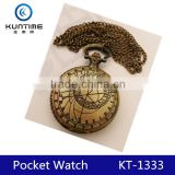 classic vintage pocket watch mechanical pocket watch with compass china watch factory