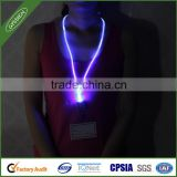 China wholesale new fashionable led flash lanyard with badge holder