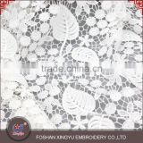 Made in China cheaper breathable mesh border embroidered brocade lace fabric wedding for bridal dress