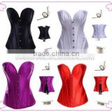 Lady's Lace up Full Spiral Steel Boned Corset Bustier Overbust Body Shaper S-6XL
