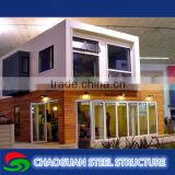 Flat pack polystyrene sandwich panel plant house container