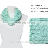 Fashionable Candy Color Infinity Loops American European Hot Sale Round Circle Woman Scarf w Ball