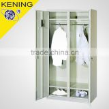 Two key secure metal wardrobe with shoes cabinet