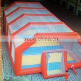 Newest design inflatable soccer field with tent / inflatable soccer facility / inflatable water soccer                                                                         Quality Choice