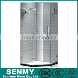 china supplier diamond shower tray tempered glass frameless hinge shower screen for bath tub