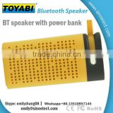 4400MAH Mini Portable waterproof power bank bluetooth speaker made of power bank and mini speaker