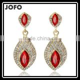 2016 New Fashion Austria Water Drop Gold Plated Earring Red Main Color For Women