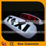 Front white back red led lighted magnet small taxi sign