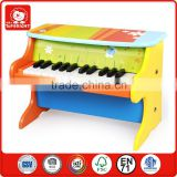 wholesale pianoforte toys china 3 years' old children education toy keyboard musical instrument colourful wooden toy piano