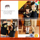 2016 New fashion sweater design kids school uniforms for high school uniform designs wholesale primary school uniform (ulik-018)