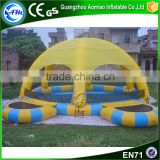 Cheap swimming pool inflatable floating tent for rental