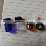 1ml/2ml/3ml Amber/Clear/Blue Glass Essential Oil Perfume Bottle With Redurcer and Cap                                                                         Quality Choice