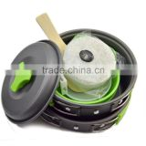 camping equipment Wholesale emerency kit new product green camping cookware for outdoor sports