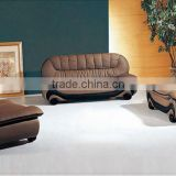 2013 New Europe Design Moden 1+2+3 Genuine Cattle Leather Sofa Classic Black and White wooden furniture model sofa set 613