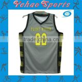 College sublimated black basketball uniforms cheap price