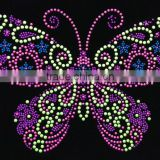 rhinestone transfer applique butterfly motif