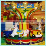 Lovely rotating merry go round with 3 coffee cups for kid game