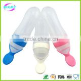 Silicone Baby Food Bottle Feeder with spoon