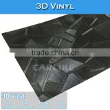 C9243 Black 3D Body Wrap Vinyl Sticker Car Wrapping Foil