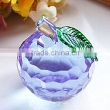 2014 new arrival X'mas gift apple crystal decoration for X'mas gift ,wedding,exhibiton