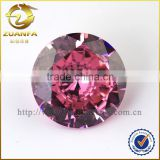 Zuanfa cubic zirconia round brilliant cut lab created diamond loose, pink cz stone                                                                                                         Supplier's Choice