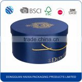 Customized Design Round Hat Biscuit box, Paper Biscuit Packaging Box with Handle                                                                         Quality Choice