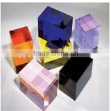Fashion crystal blank rectangle blocks/3d Laser engraved Crystal Block/clear crystal blank cube base