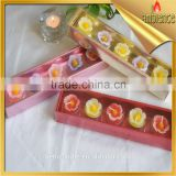 5pcs flower shaped gift candle scented tealight craft candle gift for holidays art candle