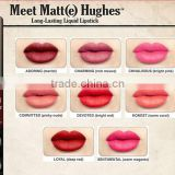 Brand 2016 Meet Matte Hughes Long Lasting Liquid Lipstick 8 Colors Sexy Red Lip Stick 6.5ML Waterproof