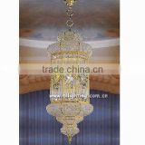 Hanging moroccan brass lanterns and lighting fixtures