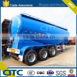 Including Air compressor high quality 55m3 bulk cement tanker / dry powder tank semi trailer