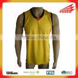 High quality Sublimation yellow color Basketball Jersey uniform design