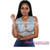 hot sexi photo image Baby Blue Mesh Lace Applique Bodysuit
