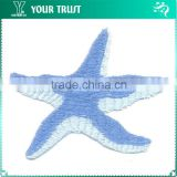 Ocean Blue Light Blue Star Cloth Applique Garment Patches Label