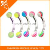 Acrylic Barbell Jewelry Curved Eyebrow Ring Body Jewelry Piercing Fake Eyebrow Piercing