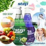 Eco Step Dish Soap 500ml/Eco Step Fabric Softener 500ml Washing up Liquid/super concentrated/Kitchen detergents/Bowl clean/Fruit