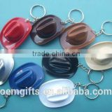 Hot cowboy hat shape and bottle opener led keychain