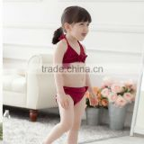 2015 yiwu Boutique bikini cute swim suit 2pcs costume baby girl beachwear kids swimwear