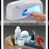 Professional Full Set UV Gel Kit Nail Art Set + 9W Curing UV Lamp Dryer Curing For Nail Art Decoration Set HN1273