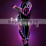 Stage show dance light up costume,DMX 512 controlled led costume,fiber optic led light suit for event show