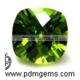 Peridot Cushion Checkerboard Briolette For Diamond Jewelry From Wholesaler