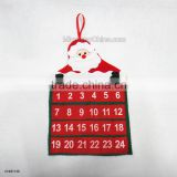 2016 New Year Merry Christmas Santa Claus Calendar Advent Christmas Tree Ornament Hanging Banner for Home Decoration