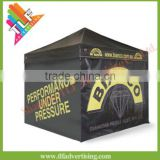 Custom printed 10 x 10 pop up canopy tent with optional side skirts and backwall                                                                         Quality Choice