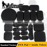 WoSporT EVA pad and inside velcro accessories for standard version core ops carbon fast helmet