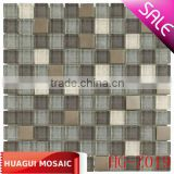 crystal glass mix metal mosaic for Bars HG-Z019
