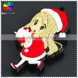 Cartoon young girl PVC fridge magnet,fridge magnet notepad,fridge magnet wholesale price